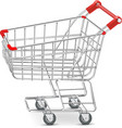 Shopping supermarket cart vector image vector image