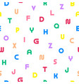 simple seamless alphabet pattern vector image