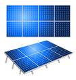 solar panels alternative energy isolated on white vector image vector image