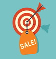 target sale1 resize vector image vector image