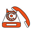 vintage rotary phone icon image vector image vector image