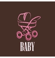 vintage with a baby pram vector image vector image