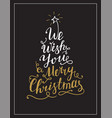 we wish you a merry christmas lettering text vector image