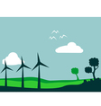 windmill and environment vector image