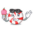 with ice cream peppermint candy character cartoon vector image