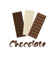 world chocolate day card vector image