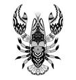 zentangle-inspired lobster for design element vector image