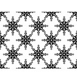 seamless geometric ornament black pattern vector image