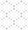 Light seamless pattern with diamonds vector image