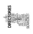 a tutorial on web directories text word cloud vector image vector image