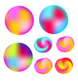 abstract colorful liquid colors glowing circles vector image vector image