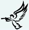 Angel with trumpet vector image