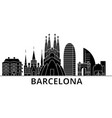 barcelona architecture city skyline travel vector image vector image