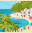 beach vacation and people activity at seaside vector image vector image