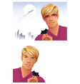 Blonde Man vector image vector image