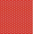 brick wall texture with small bricks vector image