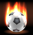 Burning soccer ball in the dark