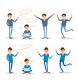 business people showing presentation and working vector image vector image