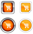 Buy button set vector image vector image