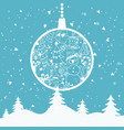 cartoon for holiday theme with christmas tree vector image