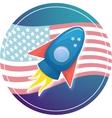 Cartoon rocket 3D vector image vector image