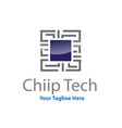 chip tech logo designs vector image