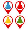 colorful cartoon xmas presents location marker set vector image