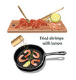 Colorful sketch seafood concept vector image