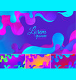 colorful wavy abstract background vector image vector image