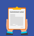 commitment letter vector image