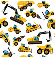 construct machines seamless pattern heavy vector image vector image