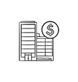 corporate business buildings hand drawn outline vector image vector image