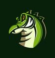 crocodile mascot logo design with modern concept vector image