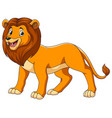 cute lion cartoon on white background vector image vector image