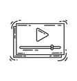 e-commerce icon video hand drawn icon set vector image vector image