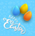 easter seamless pattern with color eggs vector image vector image