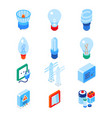 electrical supplies - modern colorful isometric vector image vector image