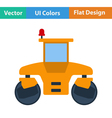 Flat design icon of road roller vector image vector image