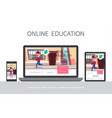 flat online learning adaptive design concept vector image