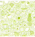 fruits and vegetables seamless pattern vegetarian vector image vector image