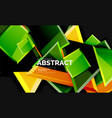 glossy mosaic style geometric shapes - squares and vector image vector image