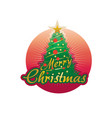 happy christmas within red circle vector image