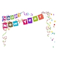 Happy new year Flags Christmas garland and vector image vector image