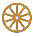 image of a wooden wheel vector image vector image