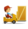 loader and box vector image vector image