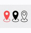 map pin icons set location sign navigation map vector image vector image