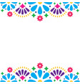 mexican folk wedding or party invitation vector image vector image