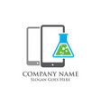 mobile science logo vector image vector image