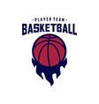 modern basketball sport logo design template vector image