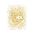 modern chic gold background design vector image